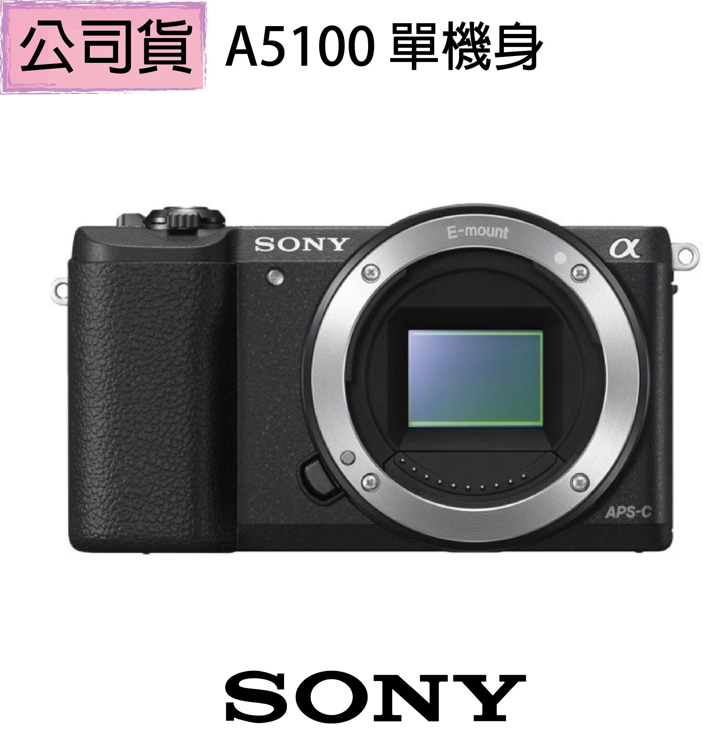 贈【原電+原充組】【SONY】A5100 BODY 單機身組(公司貨)