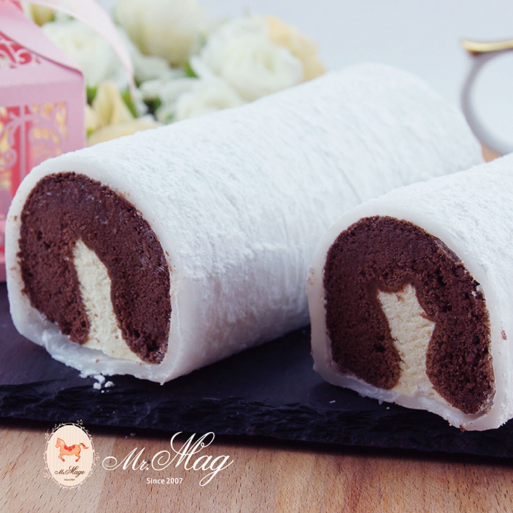 【馬各先生】6入冰心提拉麻吉蛋糕捲~新配方榮耀登場 (一盒6入)QQ麻吉皮,手作多層次蛋糕,特調義式提拉米蘇餡,綿密巧克力蛋糕,冷凍口感有如冰淇淋