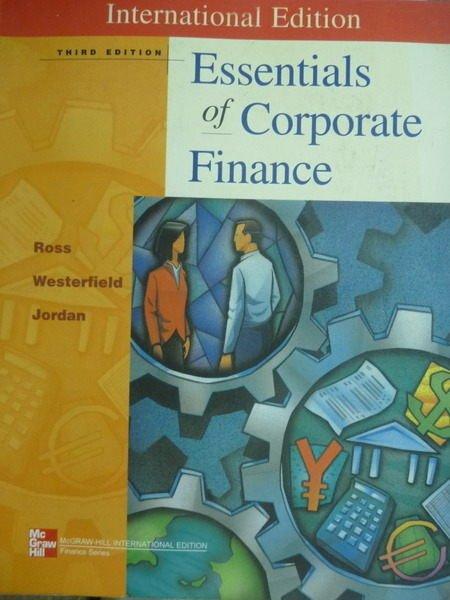【書寶二手書T5/大學商學_QHF】Essentials of Corporate Finance_Ross_3/e