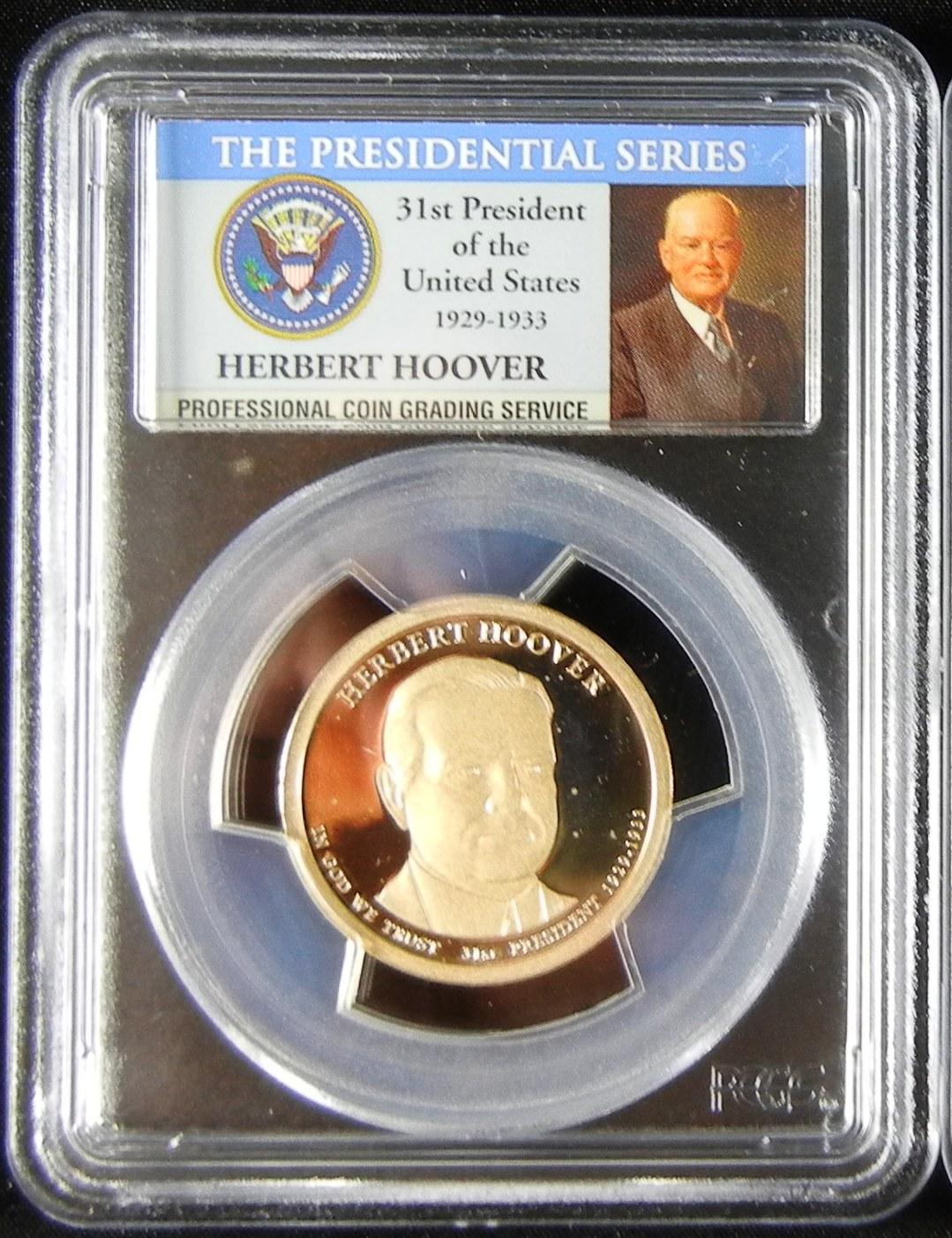 美國第31任總統Herbert Hoover一元精製硬幣