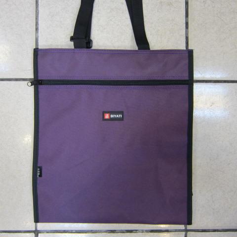 ~雪黛屋~BIYATI提袋才藝袋手提帶可調整簡單袋上學書包以外放置教具品雨衣傘便當袋台灣製造可放A4資料夾#1582紫