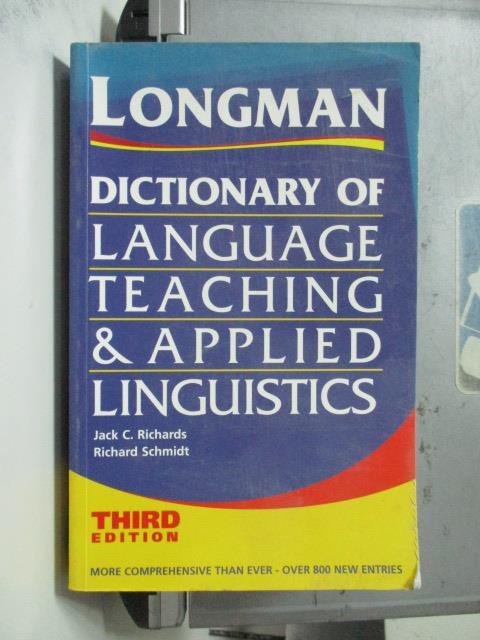 【書寶二手書T2/字典_OTS】Longman Dictionary of_Jack Richards