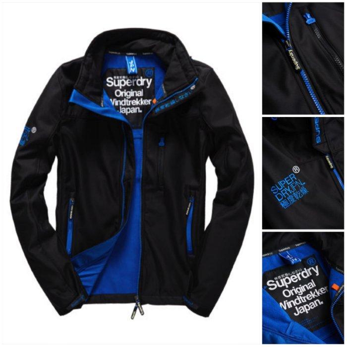 男款 極度乾燥 Superdry Wind Trekker Jacket 刷毛 彈性材質 風衣 外套 深黑藍
