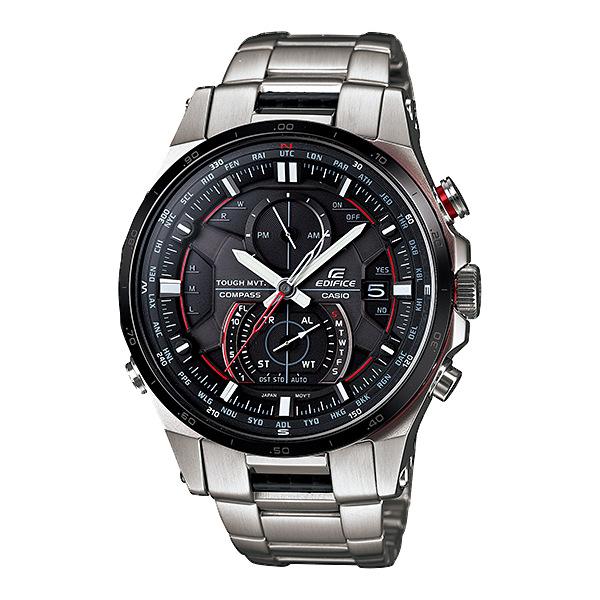 CASIO EDIFICE EQW-A1200DB-1A旗艦電波賽車腕錶/黑面45mm