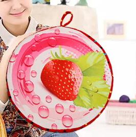 WallFree窩自在★創意3D仿真水果柔絨坐墊/抱枕/靠枕-草莓