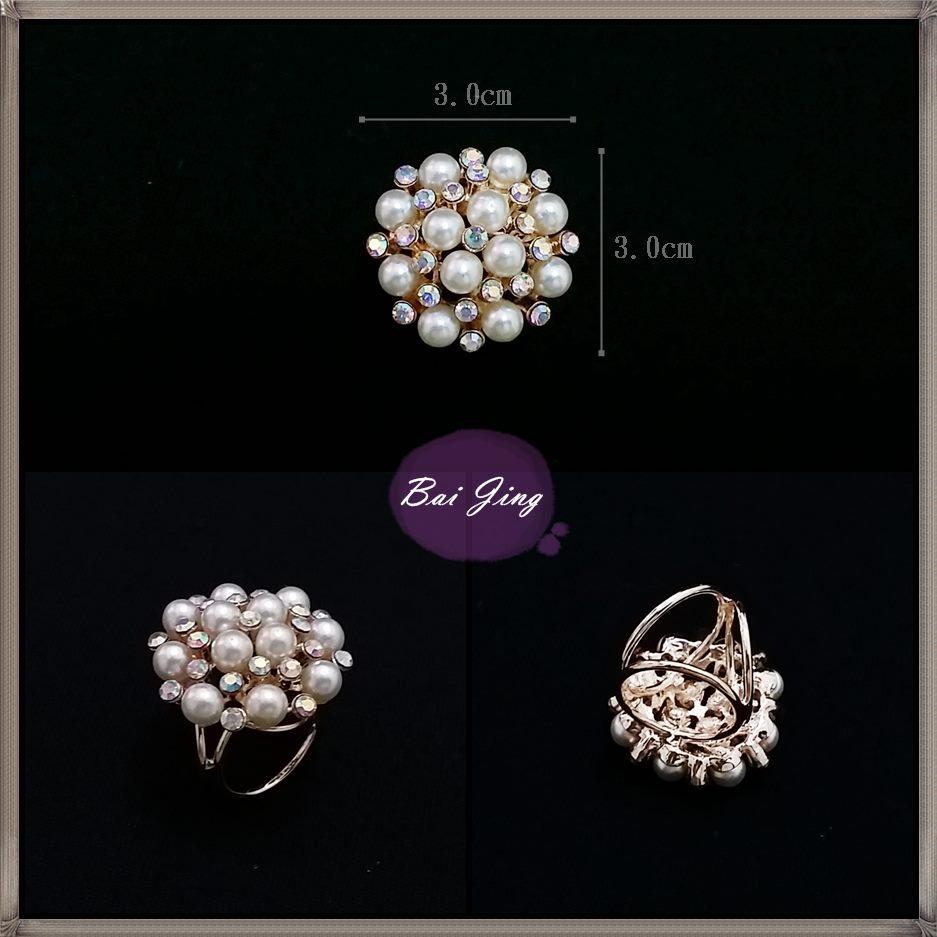 1650766【珍珠水鑽】絲巾扣