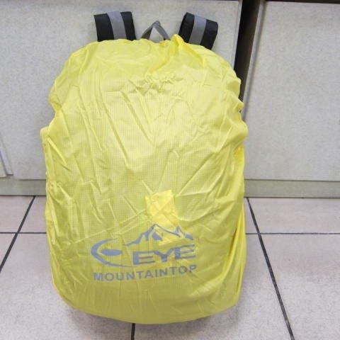 ~雪黛屋~EYE mountaintop 防水背包雨衣罩 可用於後背包 行李箱 好收納有備無患 大型