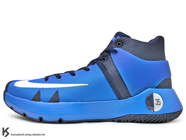 2016 Kevin Durant 最新代言 平價戶外專用 子系列鞋款 NIKE KD TREY 5 IV 4 EP 高筒 藍 深藍 HYPERFUSE 科技鞋面 前 ZOOM AIR 氣墊 XDR 耐磨橡膠外底 雷帝 代言簽名鞋款 勇士隊 (844573-484) 1116