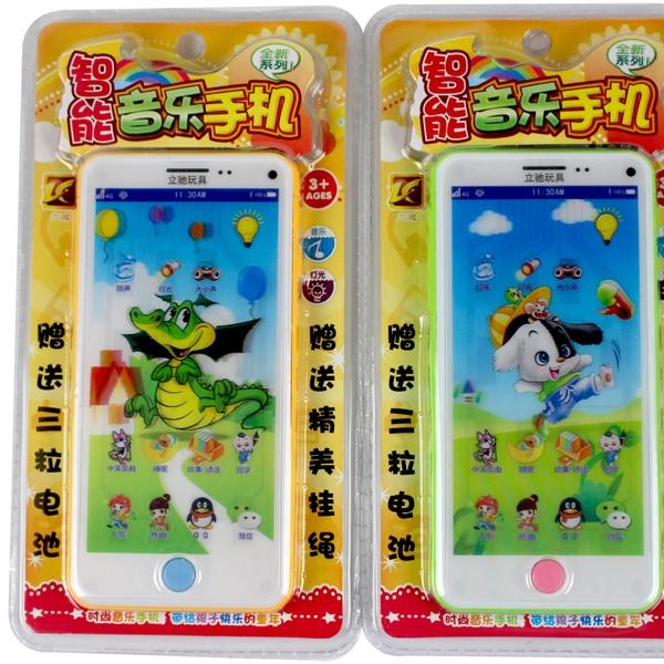 智能音樂手機 NO.156 觸屏仿真說故事手機(內附電池)/一個入 促[#100]兒童手機玩具~首