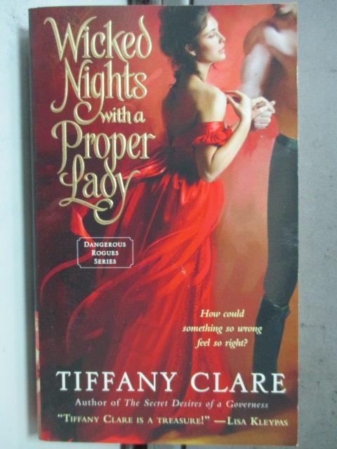 【書寶二手書T1/原文小說_HIC】Wicked Nights With a Proper Lady_Tiffany Clare