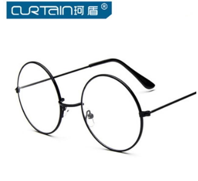 50%OFF【J011442Gls】經典復古大框圓形眼鏡框032 金屬韓版眼鏡框架太子鏡近潮附眼鏡盒