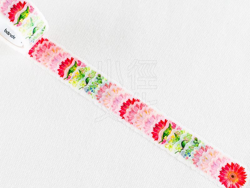 *小徑文化*日本進口 NICO Bande 和紙貼紙 迷你花朵 系列 - 非洲菊_粉紅色 ( BDA183 )