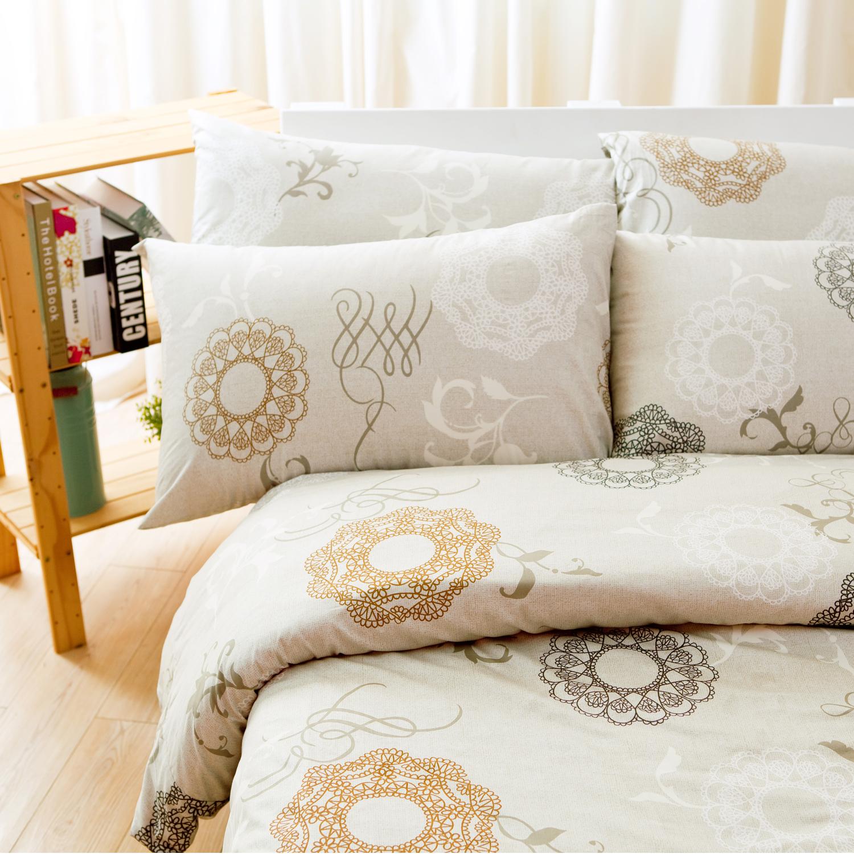 【名流寢飾家居館】古典風華.100%精梳棉.特大雙人床包組.全程臺灣製造