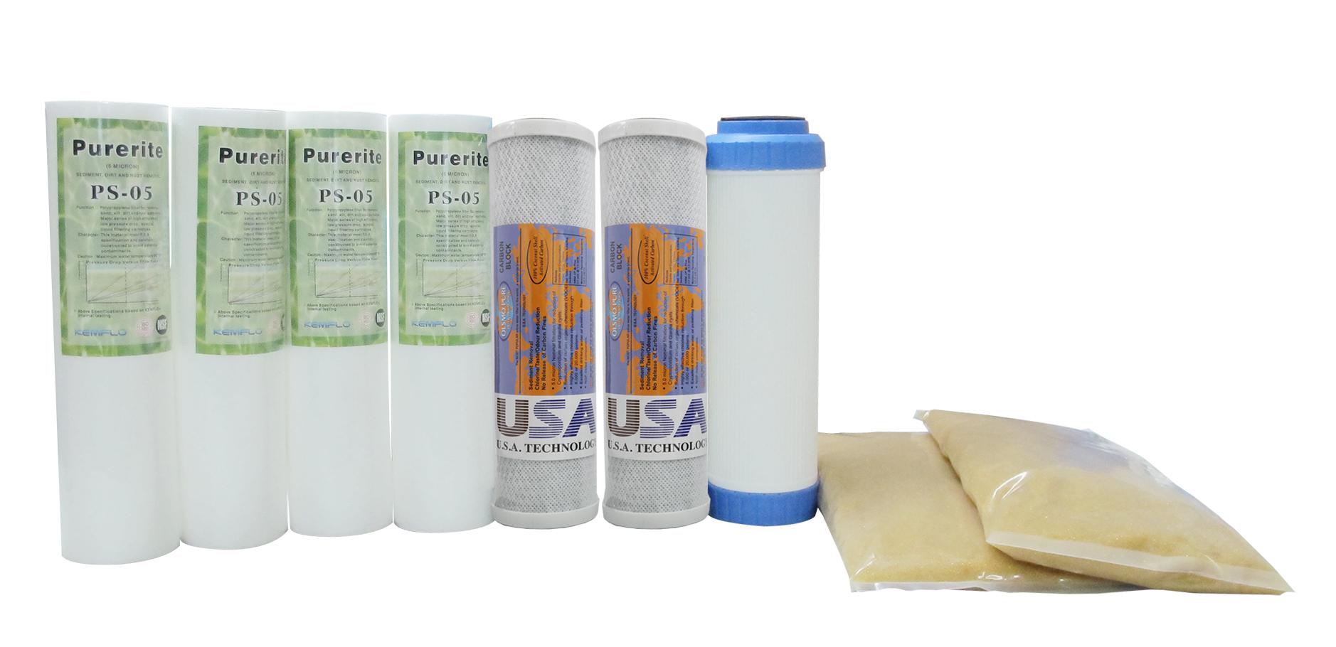 電解水前置濾心 三道式淨水器 頂級全認證一年份濾心組7支只要679元