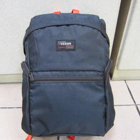 ~雪黛屋~YESON 折疊收納後背包 可外掛行李箱拉桿上並用防水尼龍不超輕耐重材質F665 深藍