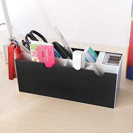 【nicegoods】小斑馬文具收納整理盒(2入不挑色)(塑膠 小物收納 置物架)