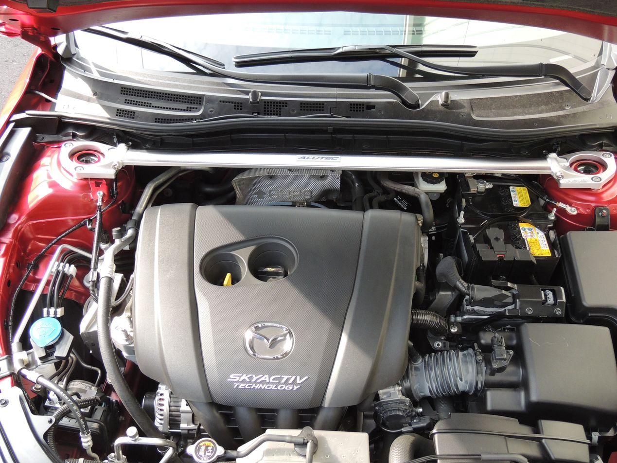 MAZDA 汽車引擎室拉桿 for 2015 MAZDA3(ALUTEC)