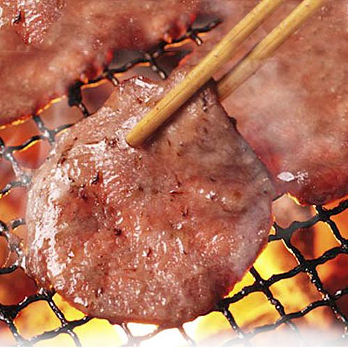 冷凍盤裝【台北濱江】燒烤店指定牛舌燒烤片(200g盒)X2