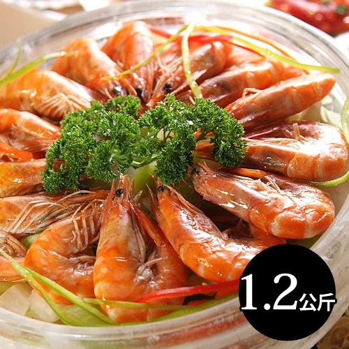【台北濱江】 熟凍白蝦大份量1.2kg/盒