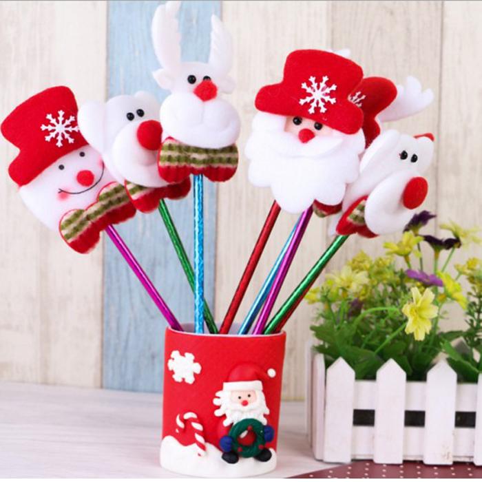 糖衣子輕鬆購【DS189】聖誕老人雪人麋鹿可愛造型原子筆聖誕節禮物(不挑款)