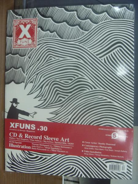 【書寶二手書T1/設計_PNB】Xfuns放肆創意設計_30期_CD & Record Sleeve Art等_未拆