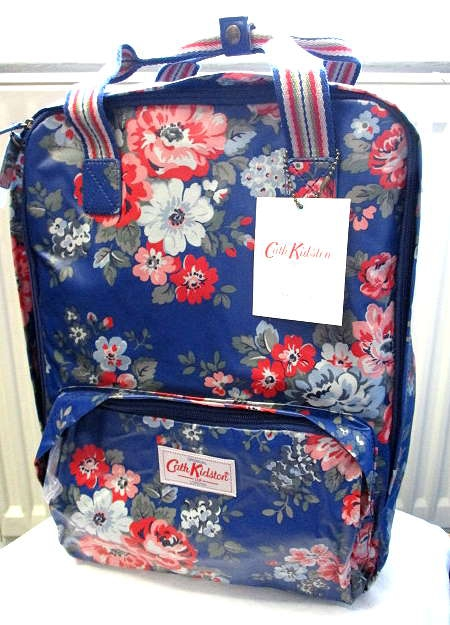 *Realhome* 英國原廠 Cath Kidston ~全新  淺藍玫瑰花電腦後背包