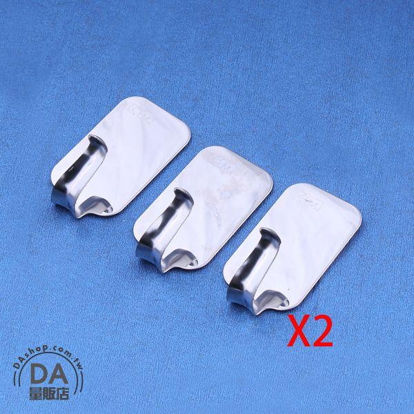 《DA量販店》6個 耐用 金屬 多功能 長方型 掛勾 小型 掛鉤 萬能掛鉤(79-1293)