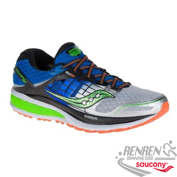 SAUCONY TRIUMPH ISO 2  男慢跑鞋 (藍) 緩衝避震