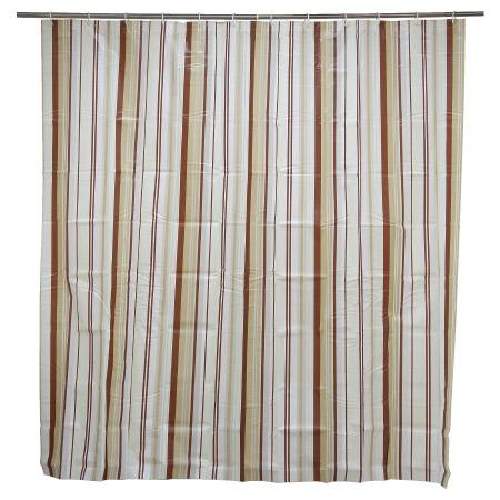 浴簾 PEVA 咖啡豎條紋 180x180cm