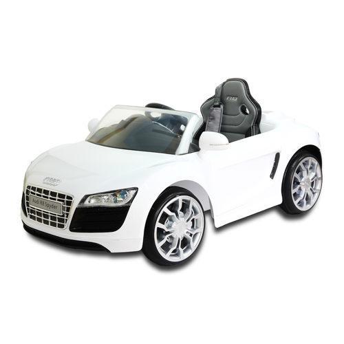 【兒童電動車】AUDI 奧迪 R8 電動車高端版-白色 W458QG-A02 (可遙控)
