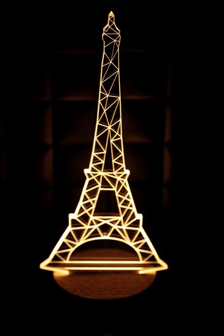 LED 造型 3D立體燈 巴黎鐵塔造型 木質底座  小夜燈 氣氛燈 造型燈 USB 生日禮物 聖誕禮物