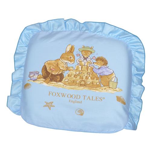 『121婦嬰用品館』狐狸村 矽膠嬰兒造型枕-藍