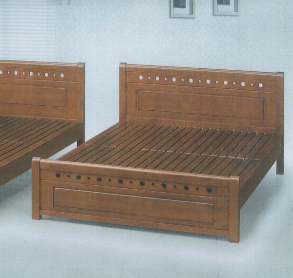 【石川家居】DA-13 全實木6尺雙人床架 需搭配車趟費