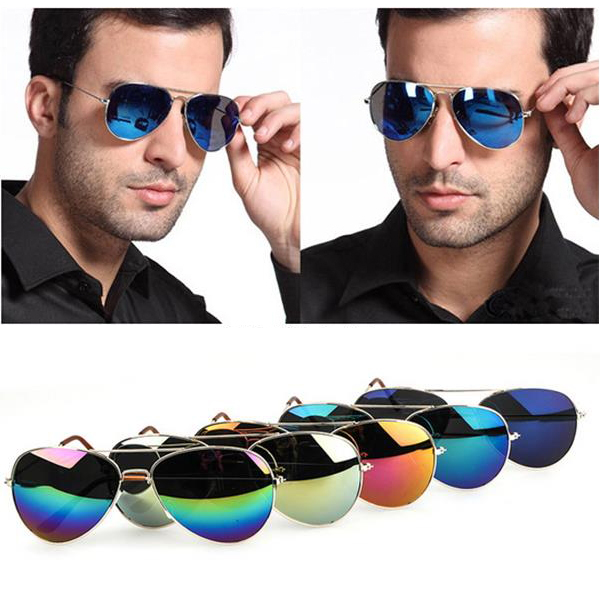 50%OFF【J003728Gls】經典款反光彩膜太陽眼鏡鍍膜復古雷朋 附眼鏡盒 防紫外線 明星款 反光鏡面