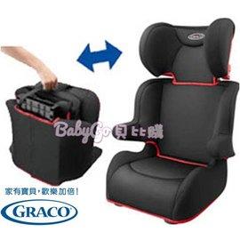 *babygo*GRACO 幼兒成長型輔助汽車安全座椅 Portable Junior 【黑小摺】