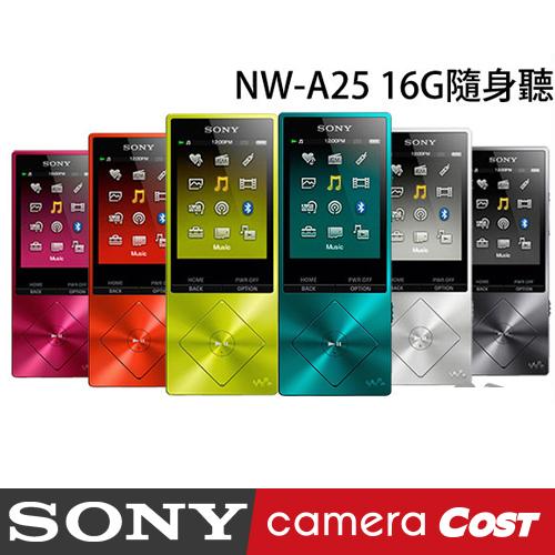 【最新上市】SONY NW-A25 Walkman 數位隨身聽 內建16GB 公司貨 MP3 可擴充 降噪