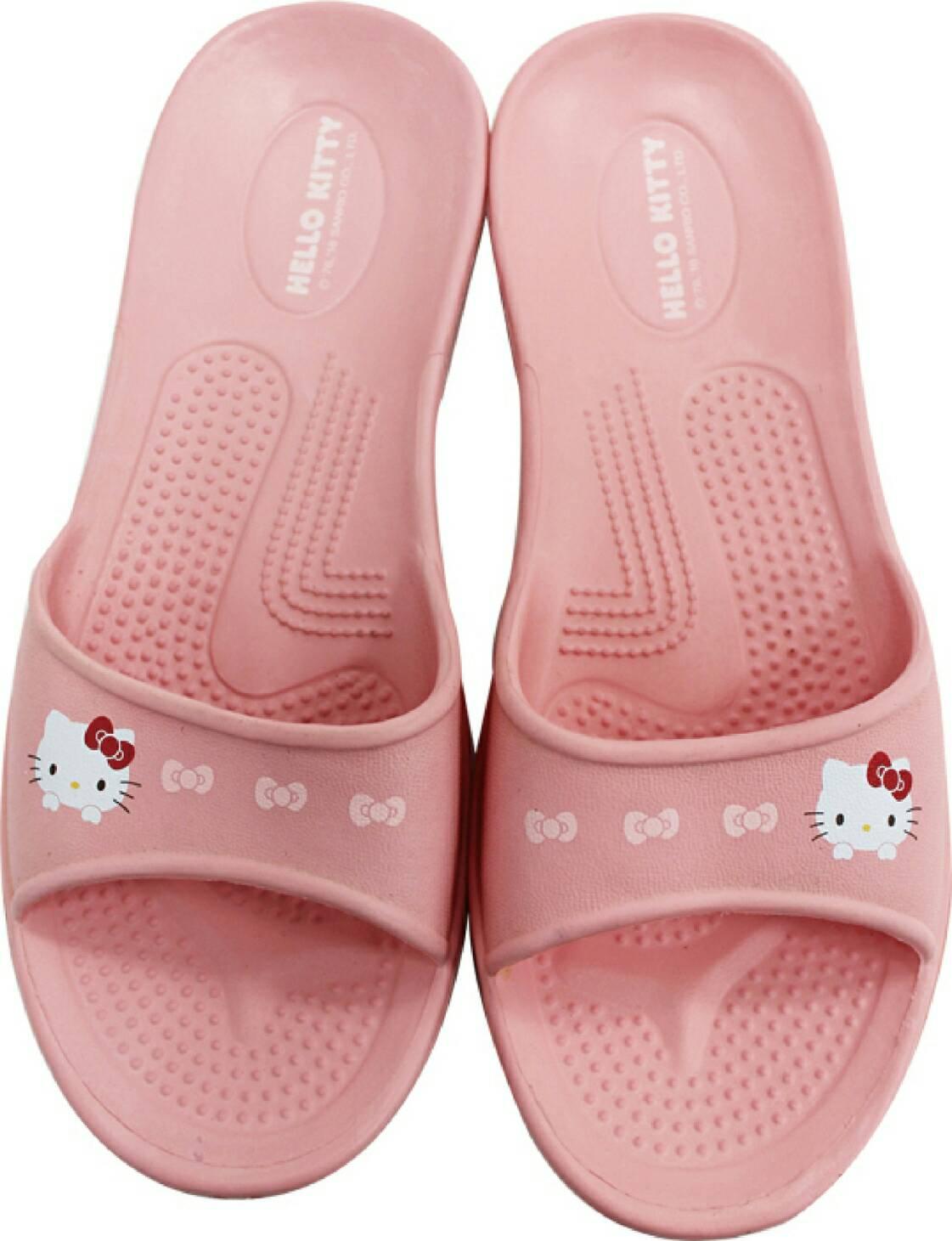 599免運~粉色HELLO KITTY拖鞋尺寸36.38.40 台灣製造超輕防水防滑拖鞋室內外拖鞋 浴室拖鞋