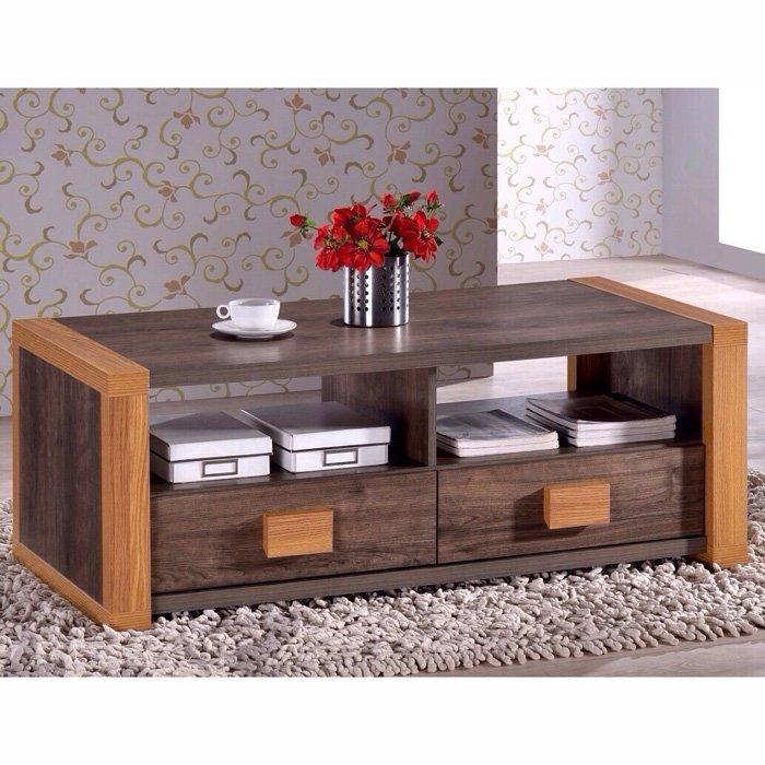 【尚品傢俱】451-04 喬尼亞 雙面雙抽環保大茶几~另有同款式電視櫃(451-05)/辦公室會客桌/客廳大方桌