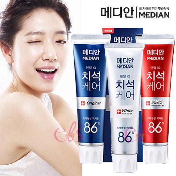 韓國 Median 86% 強效淨白去垢牙膏 120g ☆艾莉莎ELS☆