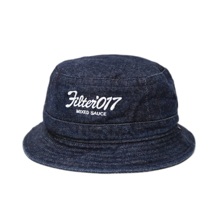 ►法西歐_桃園◄ Filter017 Bucket Hat Vintage Logo 復古 丹寧 牛仔 白 黑 漁夫帽 深藍