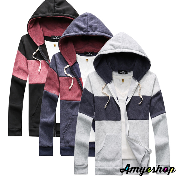 外套 情侶外套 防風外套 保暖外套 潮流外套 雙色拼接刷毛外套【M10563】艾咪E舖