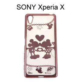 迪士尼電鍍軟殼[項鍊]米奇米妮 SONY Xperia X F5122【Disney正版授權】