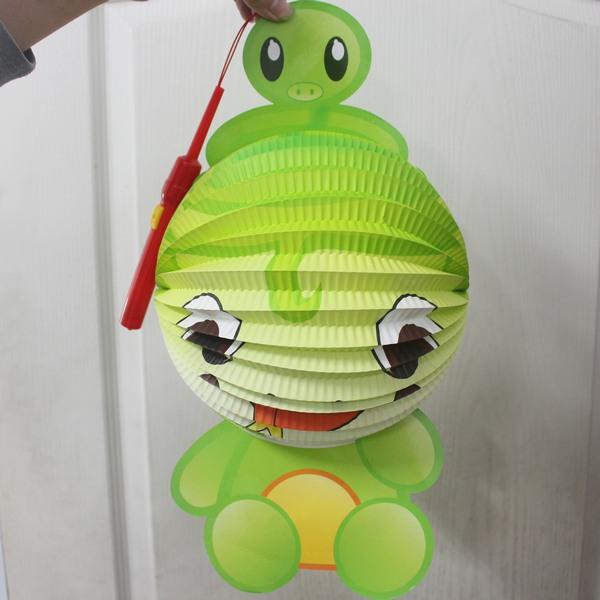 蛇燈籠 蛇年燈籠 Q版十二生肖造型紙燈籠(蛇造型/附電池)/一個入{促99}~全新~