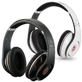 志達電子 Studio Monster Beats by Dr. Dre Studio 主動抗噪耳罩式耳機 黑/白 iPhone 3G、iPod適用 [一年保固] 公司貨