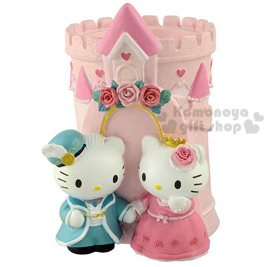 〔小禮堂〕Hello Kitty & Daniel 造型筆筒《小.粉.站姿.禮服.城堡》也可當置物筒