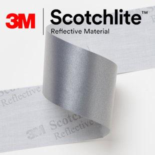 【safetylite安心生活館】《滿899免運、滿千贈禮》3M Scotchlite 8910 反光布 反光帶 反光條 反光材料 5CM寬【銀色反光條、可水洗反光布】適用於衣料