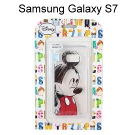 迪士尼透明軟殼 [素描] 米奇 Samsung G930FD Galaxy S7【Disney正版授權】