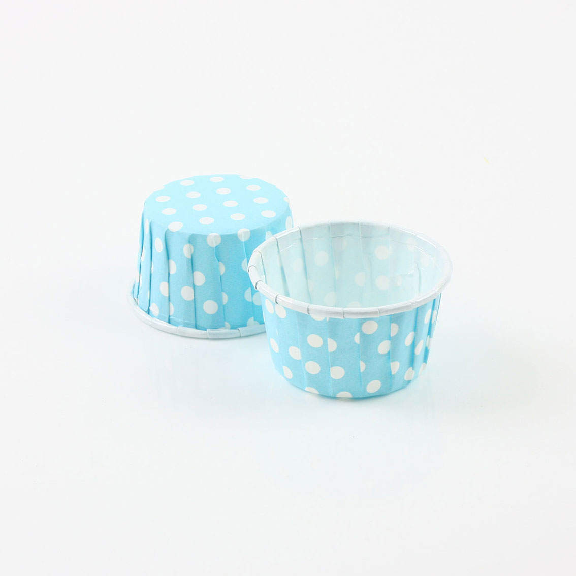 瑪芬杯、杯子蛋糕、捲口杯 PET3830-03 圓點藍(100pcs/包)