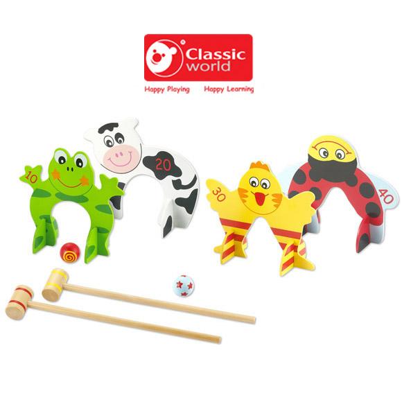 【德國 classic world】客來喜木頭玩具 槌球 CL2448