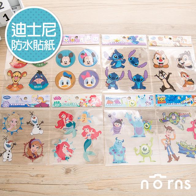 NORNS 【迪士尼防水貼紙】米老鼠 史迪奇 奇奇蒂蒂 維尼 行事曆 拍立得照片